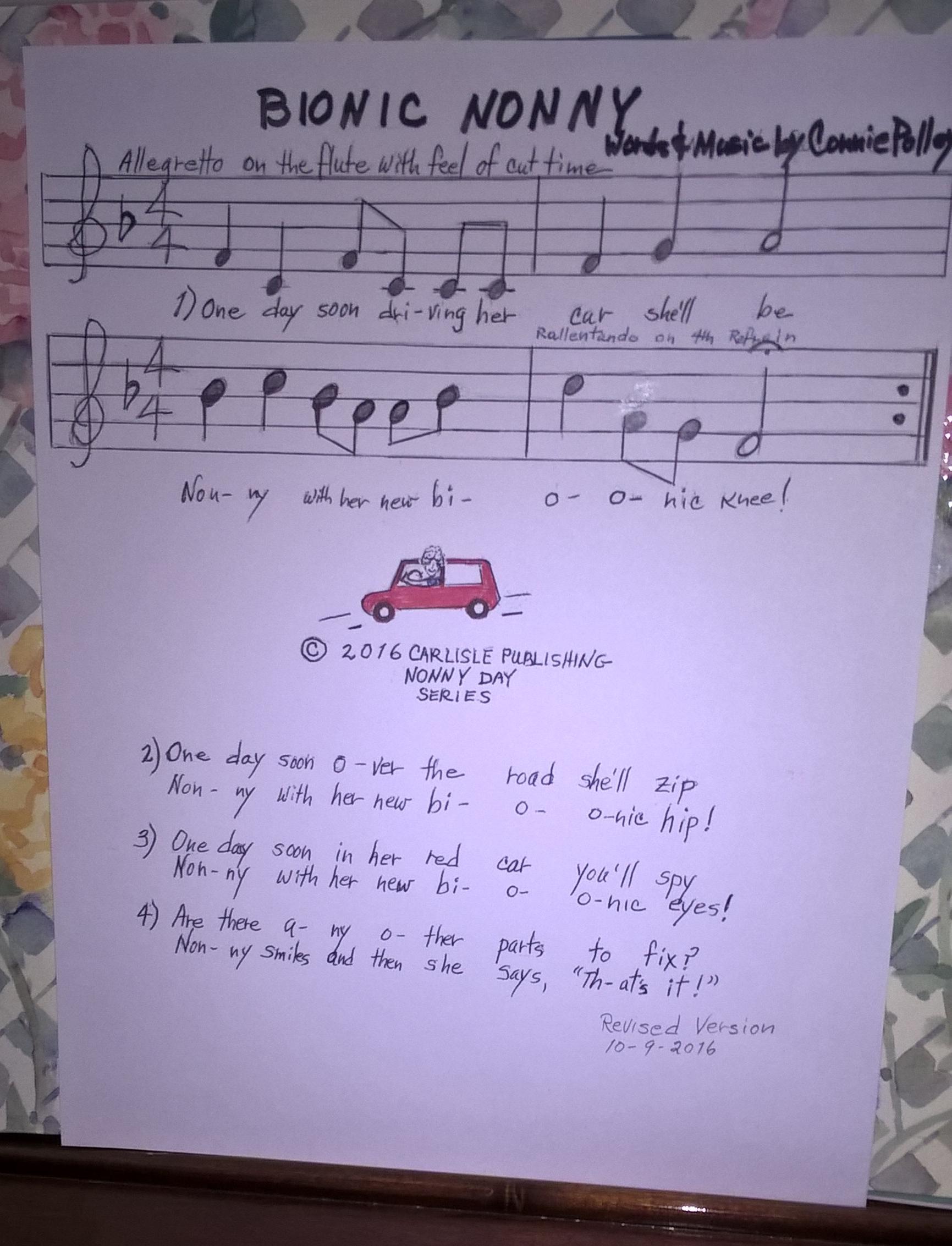 Bionic Nonny handwritten sheet music